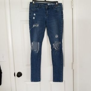 Volcom Distressed Super Stoned Skinny Jeans